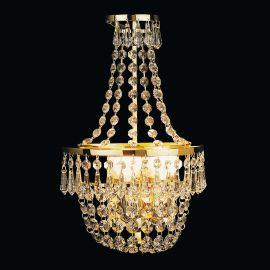 Lustre Cristal Scholer - Aplica de perete cristal Schöler design de lux Sheraton 2L, 24K gold plated