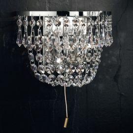 Lustre Cristal Scholer - Aplica de perete cristal Schöler design de lux Sheraton, chrome