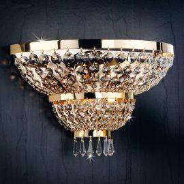 Lustre Cristal Scholer - Aplica de perete cristal Schöler design de lux Sheraton 3L, 24K gold plated