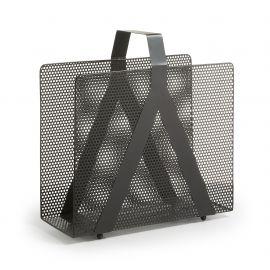 Biblioteci-Rafturi - Suport reviste design decorativ din metal perforat GRAPH negru