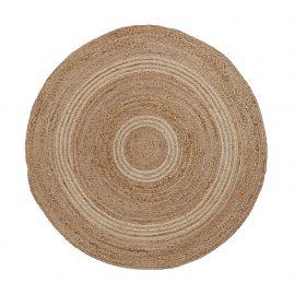 Covoare - Covor rotund din iuta SAMY 100cm natural/ gri deschis