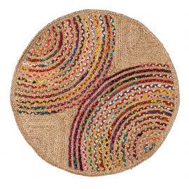 Covoare - Covor rotund din iuta si bumbac GRACIELA 100cm multicolor