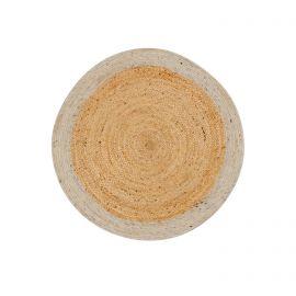 Covoare - Covor rotund din iuta si lana Meray 100cm gri