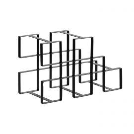Biblioteci-Rafturi - Suport metalic pentru 5 sticle de vin Edur