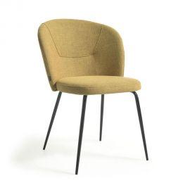 Scaune - Scaun tapitat design modern Anoha, galben mustar