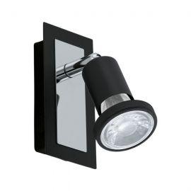 Aplice, corpuri de iluminat pentru pereti - Aplica de perete GU10-LED, negru/crom, SARRIA