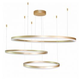 Corpuri de iluminat Lustre pentru casa scarii - Lustra LED XXL suspendata design modern circular geometric Halo GO