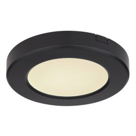 Plafoniere - Plafoniera LED design modern, diametru 12,6cm, LASSE negru