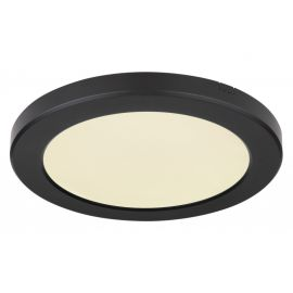Plafoniere - Plafoniera LED design modern, diametru 22cm, LASSE negru