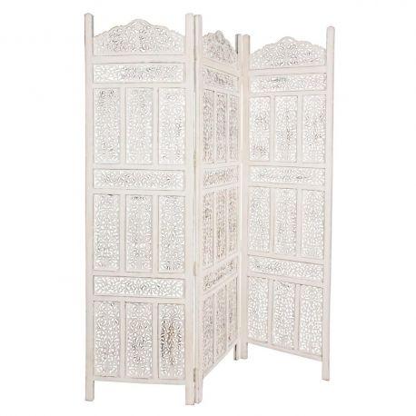 Garderobe - Paravan decorativ KARTIK 3DO alb