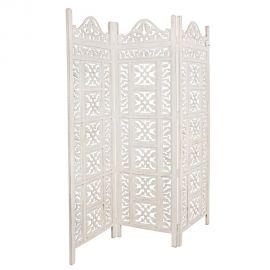 Garderobe - Paravan decorativ KRISHNA 3DO alb