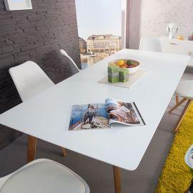 Mese dining - Masa Scandinavia 200cm alb