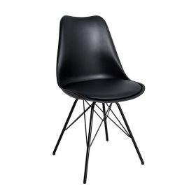 Set de 2 scaune Scandinavia Retro negru