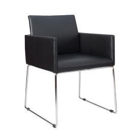 Set de 2 scaune Livorno piele/ negru