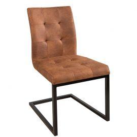 Set de 2 scaune Oxford coniac
