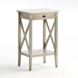 Noptiere - Noptiera design rustic patina gri Leo