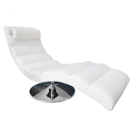 Canapele - Pat de zi tip sezlong Relaxo alb