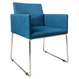 Set de 2 scaune Livorno albastru