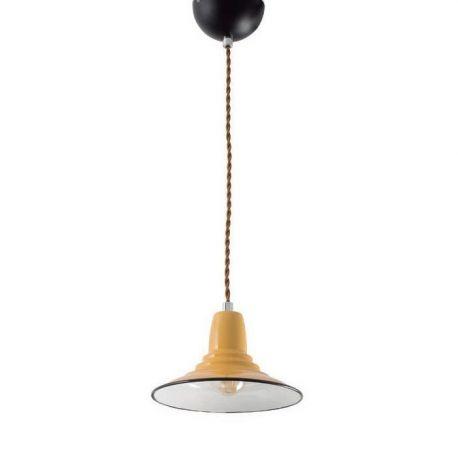 Pendule, Lustre suspendate - Pendul design Industrial Style NINETTE galben
