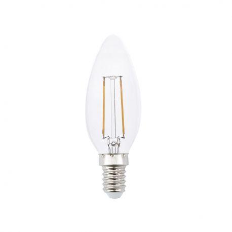 Becuri E14 - Bec LED decorativ CANDLE FILAMENT E14 LED 2W 2700K