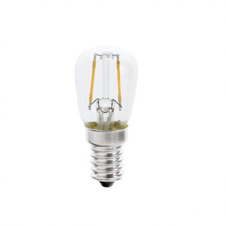 Becuri E14 - Bec E14 LED decorativ T26 FILAMENT 1W 2700K