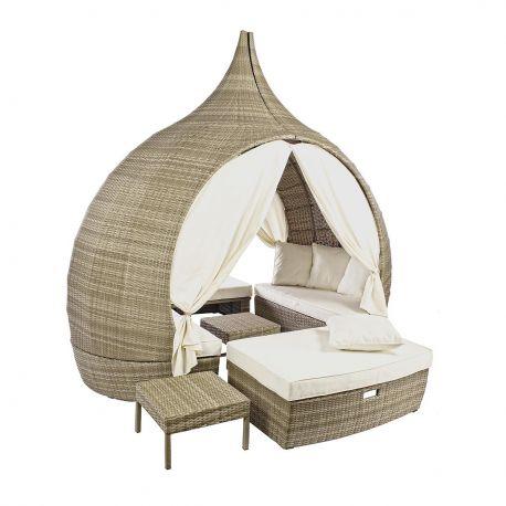 Paturi - Foisor cu pat modular KAYLEE natur
