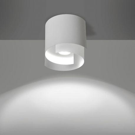 Plafoniere cu spoturi, Spoturi aplicate - Plafoniera moderna STYLE I alba