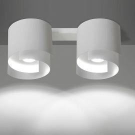 Plafoniere cu spoturi, Spoturi aplicate - Plafoniera moderna STYLE II alba