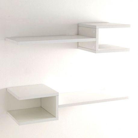 Biblioteci-Rafturi - Set 2 rafturi de perete DIAPASON WHITE