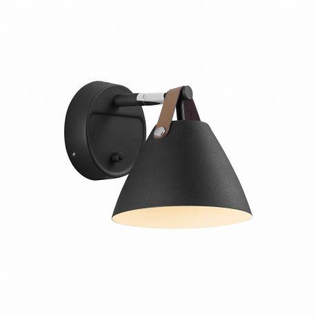 Aplice, corpuri de iluminat pentru pereti - Aplica design nordic STRAP 15 neagra